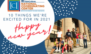 group of students with text 10 Things We're Excited for in 2021: Happy New Year