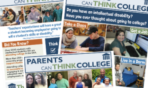 Screenshot of 3 new publications in the We Can Think College series