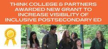 New Federal Grant Will Allow for Expanded Work on Inclusive Postsecondary Education