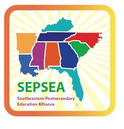 Map of states included in SEPSEA: Arkansas, Louisiana, Mississippi, Alabama, Florida, Georgia, Tennessee, Kentucky, North & South Carolina