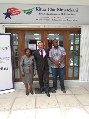 ADA Fellows Monica Mbelle and Goodluck Chanyika at the U.S. Embassy in Tanzania
