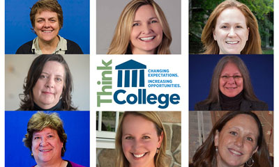 Photos of Think College staff at DCDT
